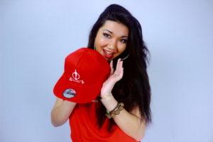 Jivanah holding Original RED SND Series Cap