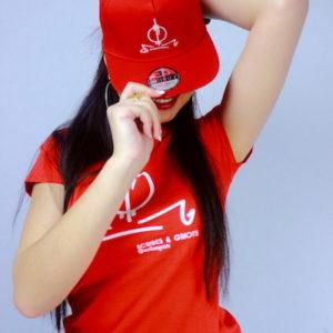 Jivanah wearing Original RED SNG Series Cap